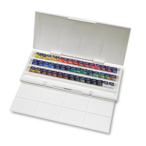 W&N コットマン水彩 ハーフパン 40色(45ヶ)スタジオセット