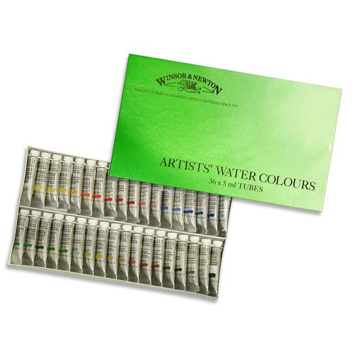 W&N プロフェッショナル水彩 2号 36色セット(紙箱)