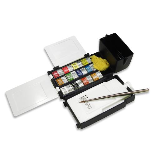 W&N プロフェッショナル水彩 ハーフパン 12色フィールドBOX
