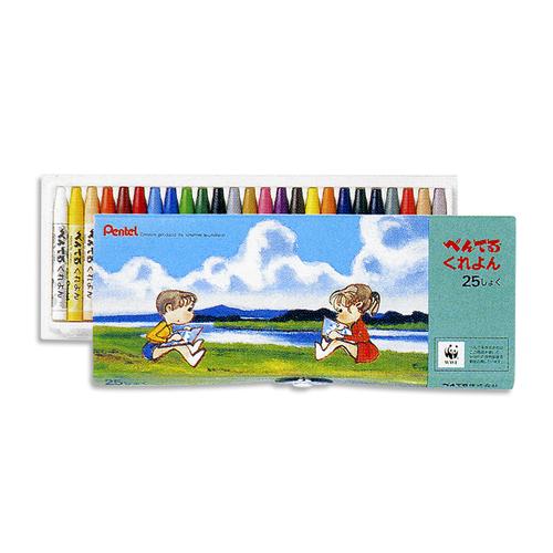 ぺんてる くれよん25色セット(PTCR-25)