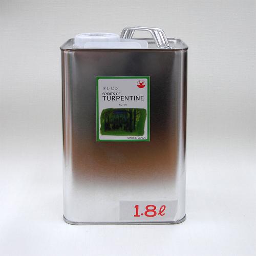 マツダ 専門家用画用液 テレピン 1.8L(缶入)