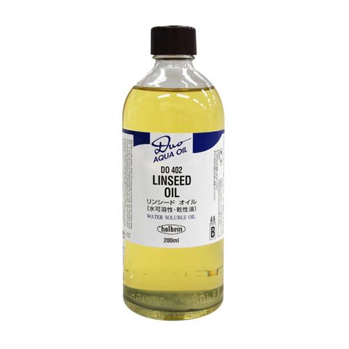ホルベイン デュオ画用液 リンシードオイル200ml(DO402)
