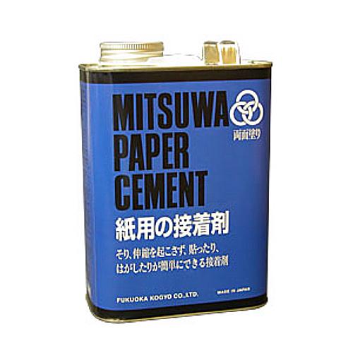 ミツワ ペーパーセメント[W]3800cc 4立缶
