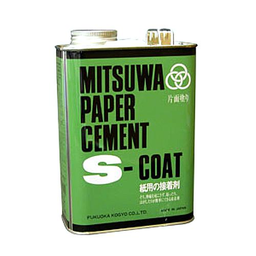 ミツワ ペーパーセメント[Sコート]3800cc 4立缶
