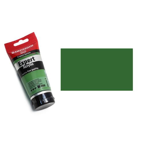 アムステルダム アクリリックカラーエキスパート75ml 668クロミウムオキサイドグリーン