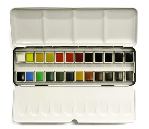 ラウニー アクアファイン ハーフパン 24色セット(メタルボックス)