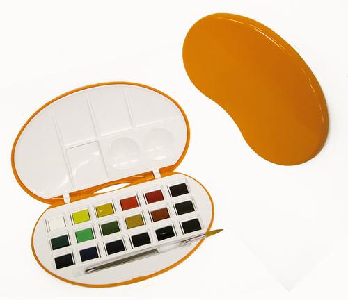 クサカベ アクアファインビーンズ 18色セット[オレンジ]