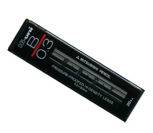 三菱 シャープ芯 ハイユニ[0.3mm]B