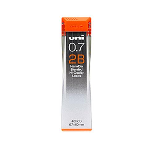 三菱 シャープ芯 uniナノダイヤ[0.7mm]2B