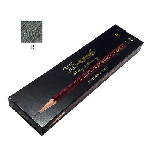 三菱 ハイユニ鉛筆 B【ダース】※紙箱入