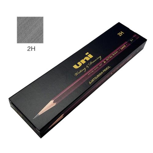 三菱 ユニ鉛筆 2H【ダース】※紙箱入