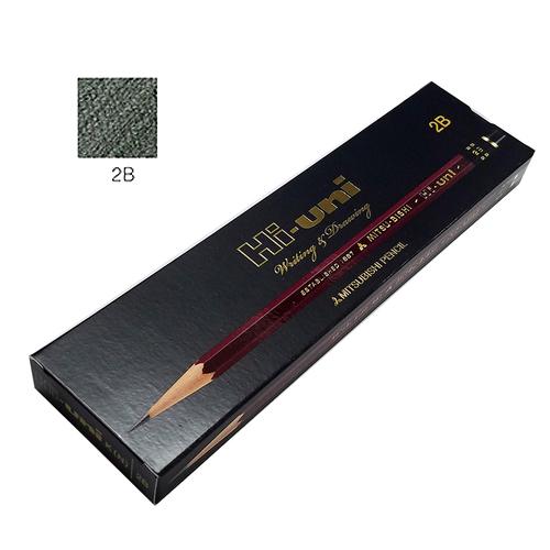 三菱 ハイユニ鉛筆 2B【ダース】※紙箱入