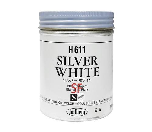 ホルベイン 油絵具330ml缶 シルバーホワイト(H611)
