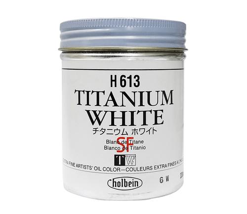 ホルベイン 油絵具330ml缶 チタニウムホワイト(H613)