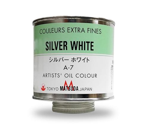 マツダ 専門家用油絵具330ml缶 シルバーホワイト(A-7)