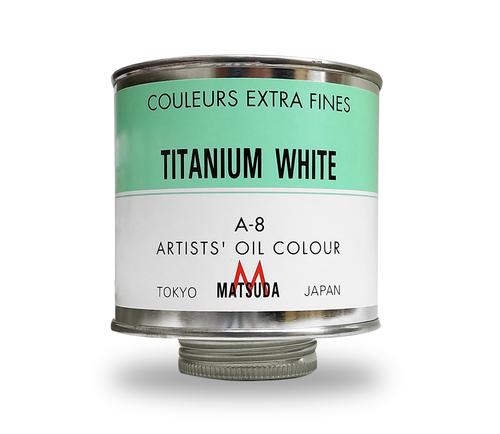 マツダ 専門家用油絵具330ml缶 チタニウムホワイト(A-8)