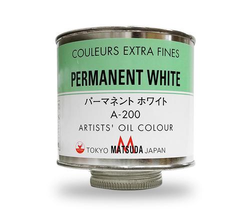 マツダ 専門家用油絵具330ml缶 パーマネントホワイト(A-200)