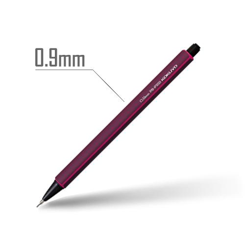 鉛筆シャープ(スタンダードカラー) 0.9mm 軸:ワインレッド [PS-P100DR-1P]