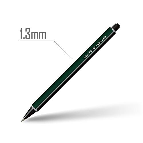 鉛筆シャープ(スタンダードカラー) 1.3mm 軸:ダークグリーン [PS-P101DG-1P]