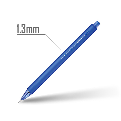 鉛筆シャープ(フローズンカラー) 1.3mm 軸:青 [PS-FP101B-1P]