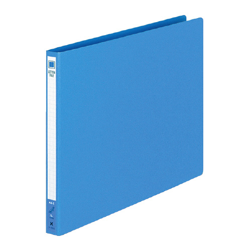 レターファイル(色厚紙紙) A4ヨコ 青 [フ-555B]