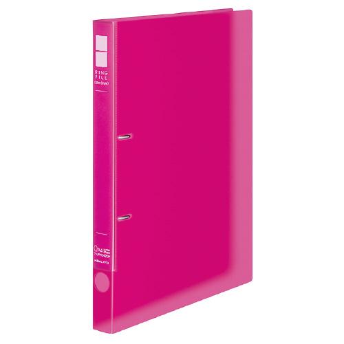 リングファイル<スリムスタイル(クリアカラー)> A4 内径22mm ピンク[フ-URFC420P]