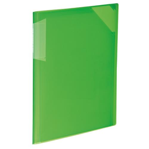 クリヤーホルダーブック<ノビータ> A4 黄緑 6P[フ-N5710LG-6]