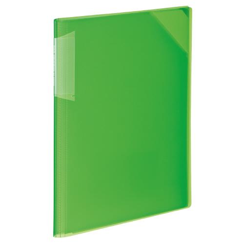 クリヤーホルダーブック<ノビータ> A4 黄緑 12P[フ-N5710LG-12]