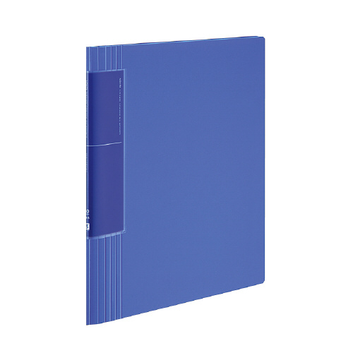 クリヤーブック<ノビータ>(ウェーブカットポケット) A4 60P 青 [ラ-TN585B]
