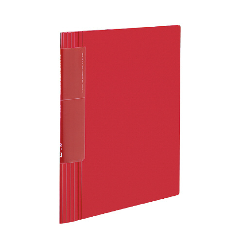 クリヤーブック<ノビータ>(ウェーブカットポケット) A4 40P 赤 [ラ-TN570R]