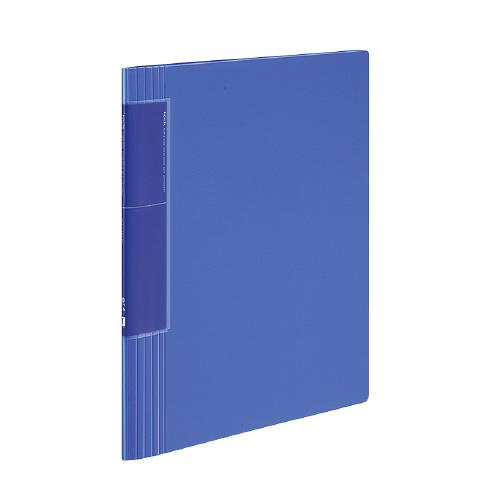 クリヤーブック<ノビータ>(ウェーブカットポケット) A4 40P 青 [ラ-TN570B]