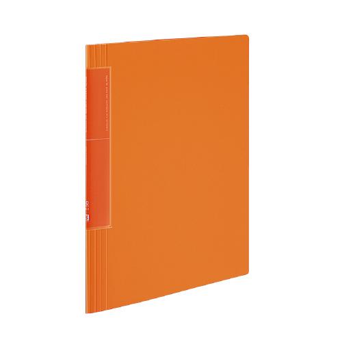 クリヤーブック<ノビータ>(ウェーブカットポケット) A4 20P オレンジ [ラ-TN560YR]