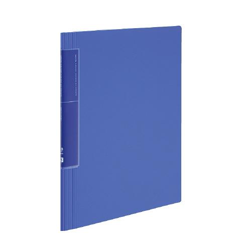 クリヤーブック<ノビータ>(ウェーブカットポケット) A4 20P 青 [ラ-TN560B]