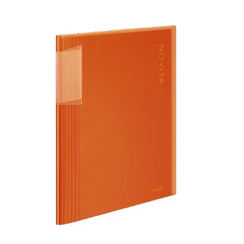 クリヤーブック<ノビータ> A4 40P オレンジ [ラ-N40YR]