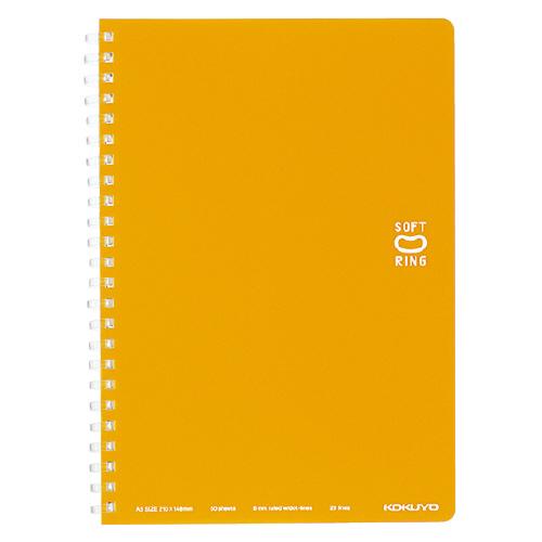 ソフトリングノート(ドット入リ罫) A5  オレンジ [ス-SV331BT-YR]