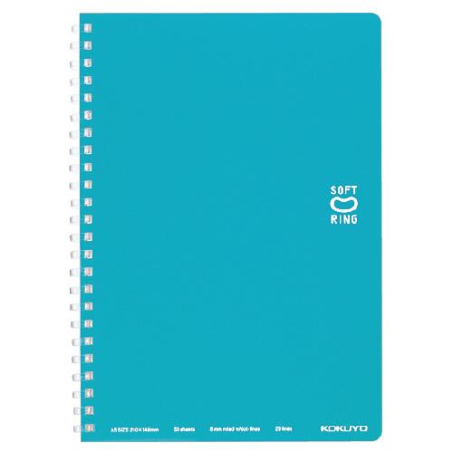 ソフトリングノート(ドット入リ罫) A5 ライトブルー [ス-SV331BT-LB]