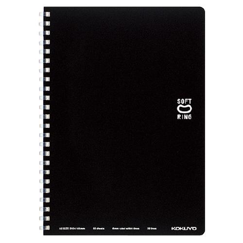ソフトリングノート(ドット入リ罫) A5 ブラック [ス-SV331BT-D]