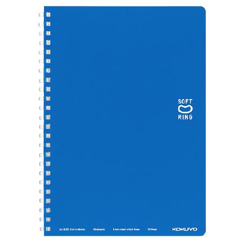 ソフトリングノート(ドット入リ罫) A5 ブルー [ス-SV331BT-B]