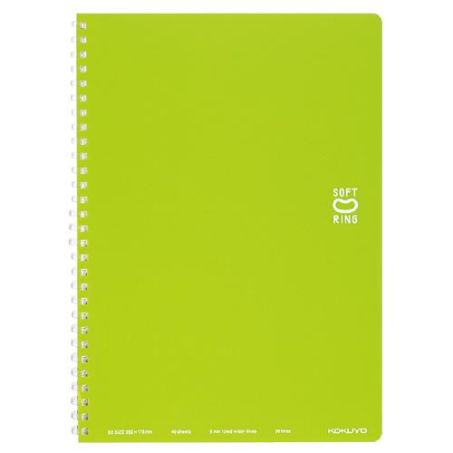 ソフトリングノート(ドット入リ罫) セミB5 ライトグリーン [ス-SV301BT-LG]