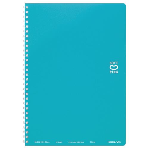 ソフトリングノート(ドット入リ罫) セミB5 ライトブルー [ス-SV301BT-LB]