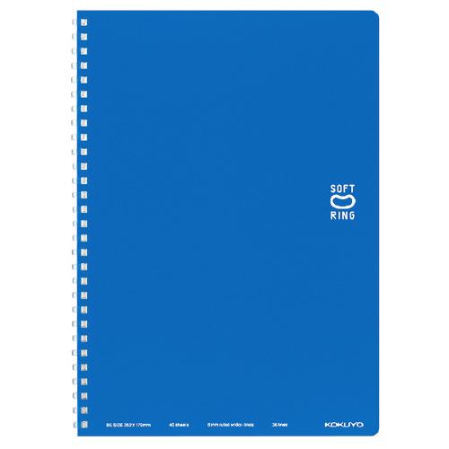 ソフトリングノート(ドット入リ罫) セミB5 ブルー [ス-SV301BT-B]