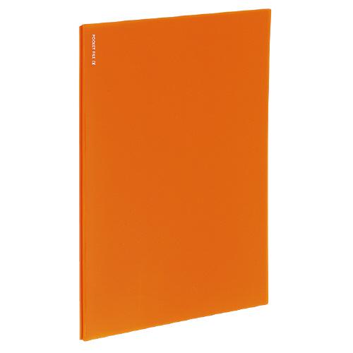ポケットファイルα<ノビータα> A4 24P オレンジ [ラ-NF24YR]