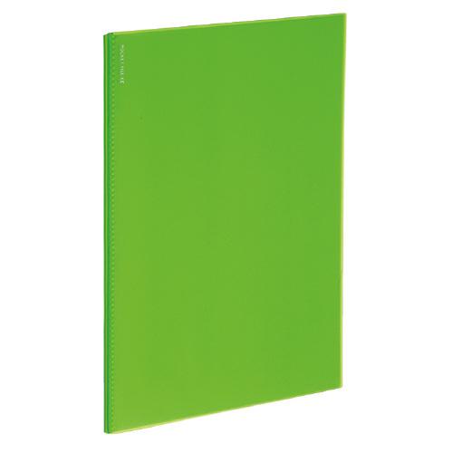 ポケットファイルα<ノビータα> A4 24P ライトグリーン [ラ-NF24LG]