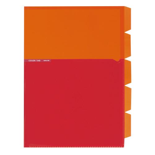 5インデックスホルダー<カラータグ> A4 オレンジ [CTフ-C750YR]