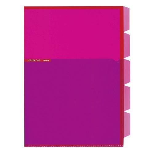 5インデックスホルダー<カラータグ> A4 ピンク [CTフ-C750P]
