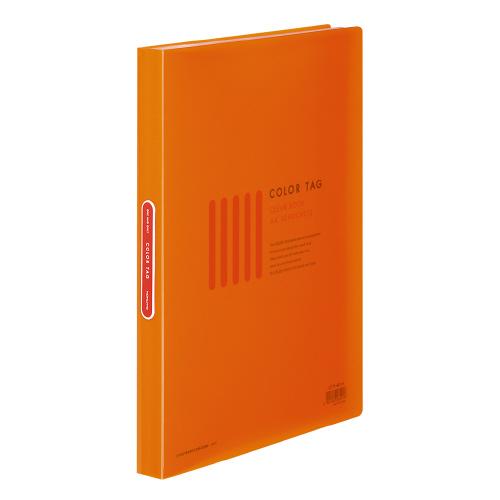クリヤーブック<カラータグ> A4 40P オレンジ [CTラ-40YR]