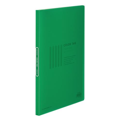 クリヤーブック<カラータグ> A4 20P 緑 [CTラ-20G]