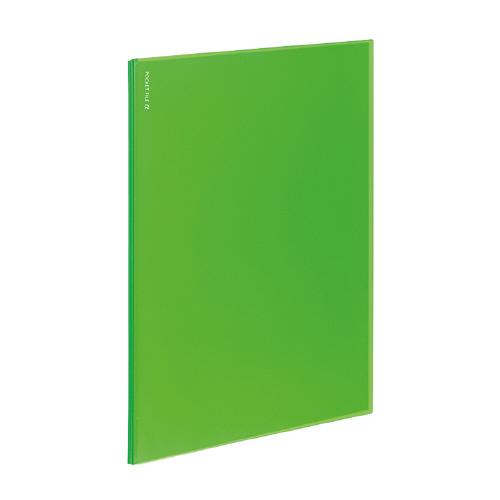 ポケットファイルα<ノビータα> A4 12P ライトグリーン [ラ-NF12LG]