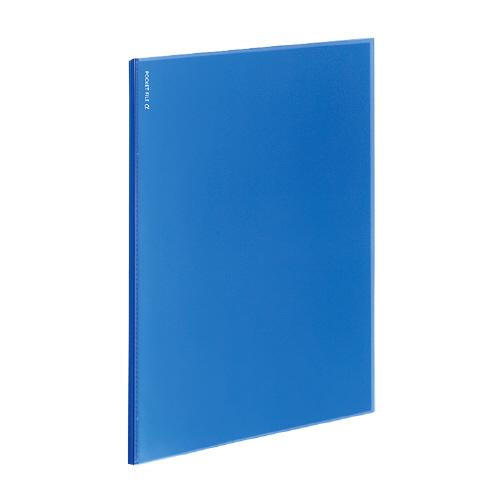 ポケットファイルα<ノビータα> A4 12P 青 [ラ-NF12B]