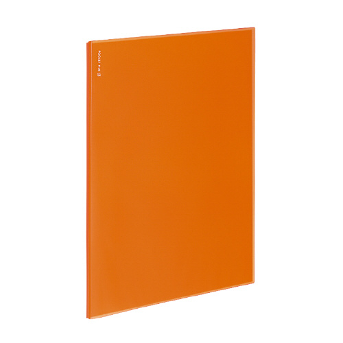ポケットファイルα<ノビータα> A4 6P オレンジ [ラ-NF6YR]